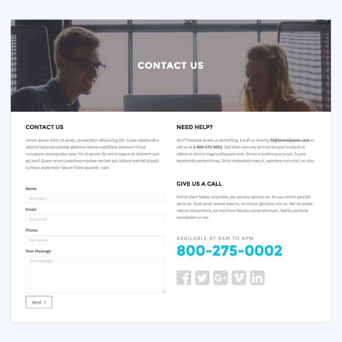 contact-us-template